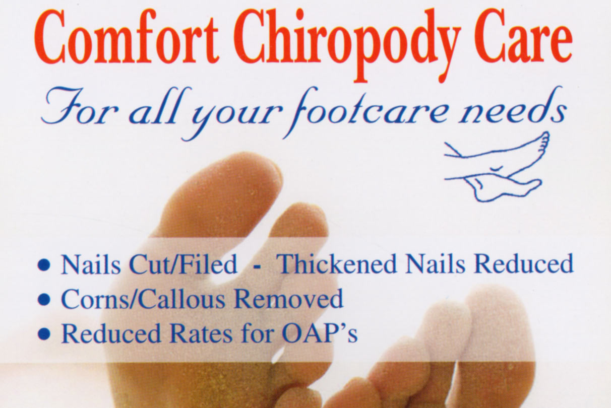 Home 'Comfort' Chiropody Liverpool - for all your footcare needs